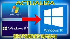 Actualizar Windows a 10 sin perder datos 2020
