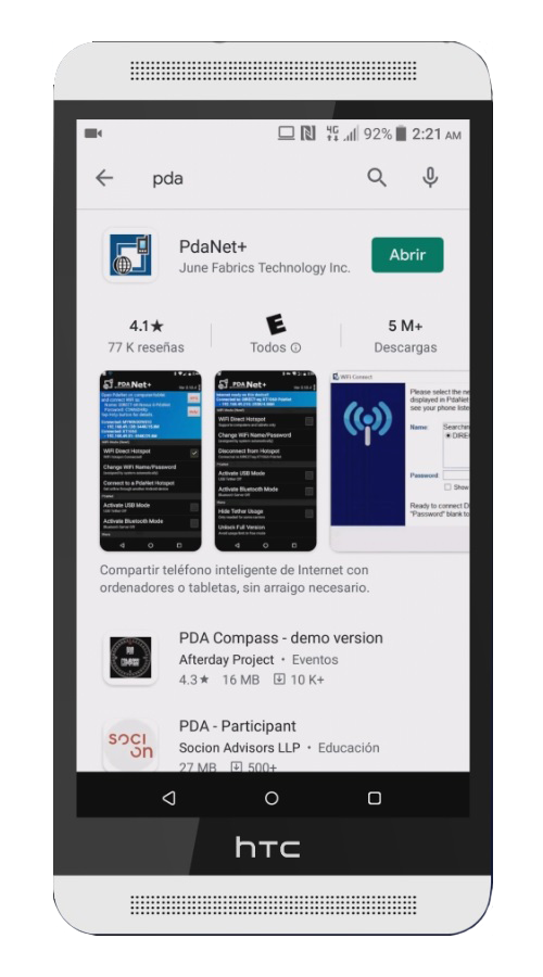 PdaNet android comparte tu internet