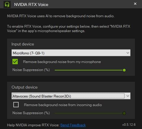 activar rtx voice en micro