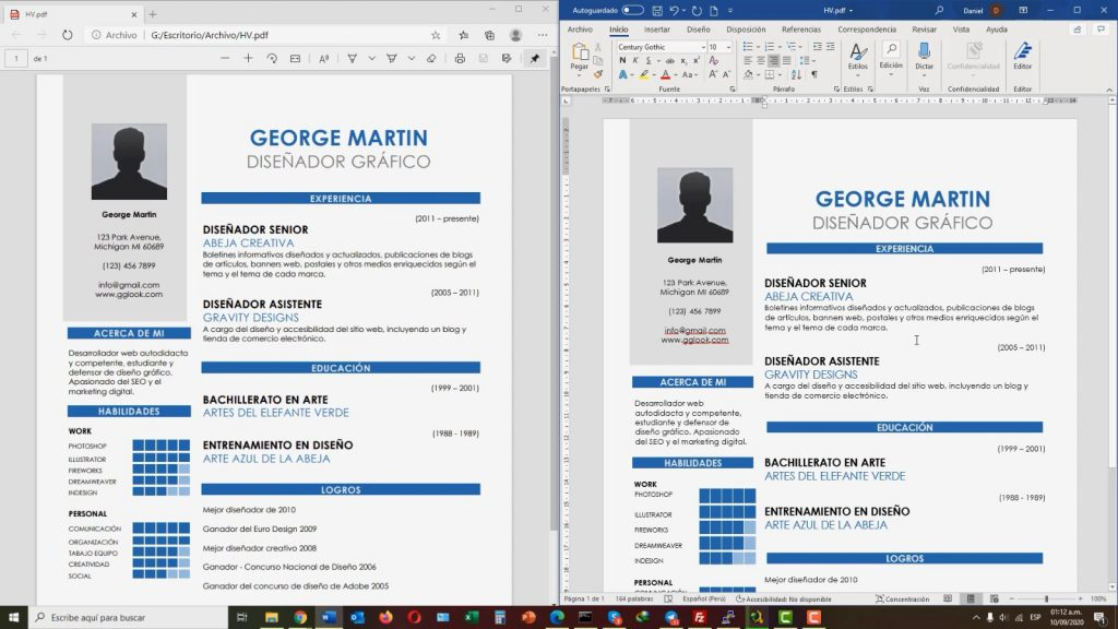 archivo pdf convertido a word