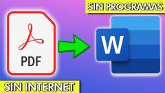 CONVERTIR PDF a WORD sin programas (2020)