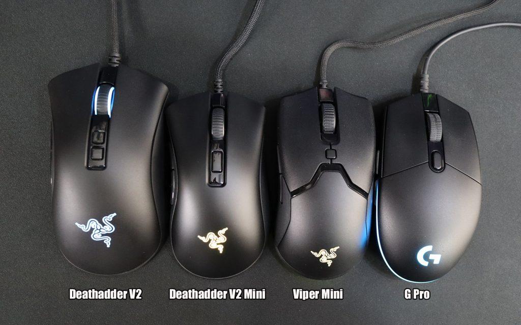 deathadder v2 vs deathadder v2 mini vs viper mini vs logitech g pro2