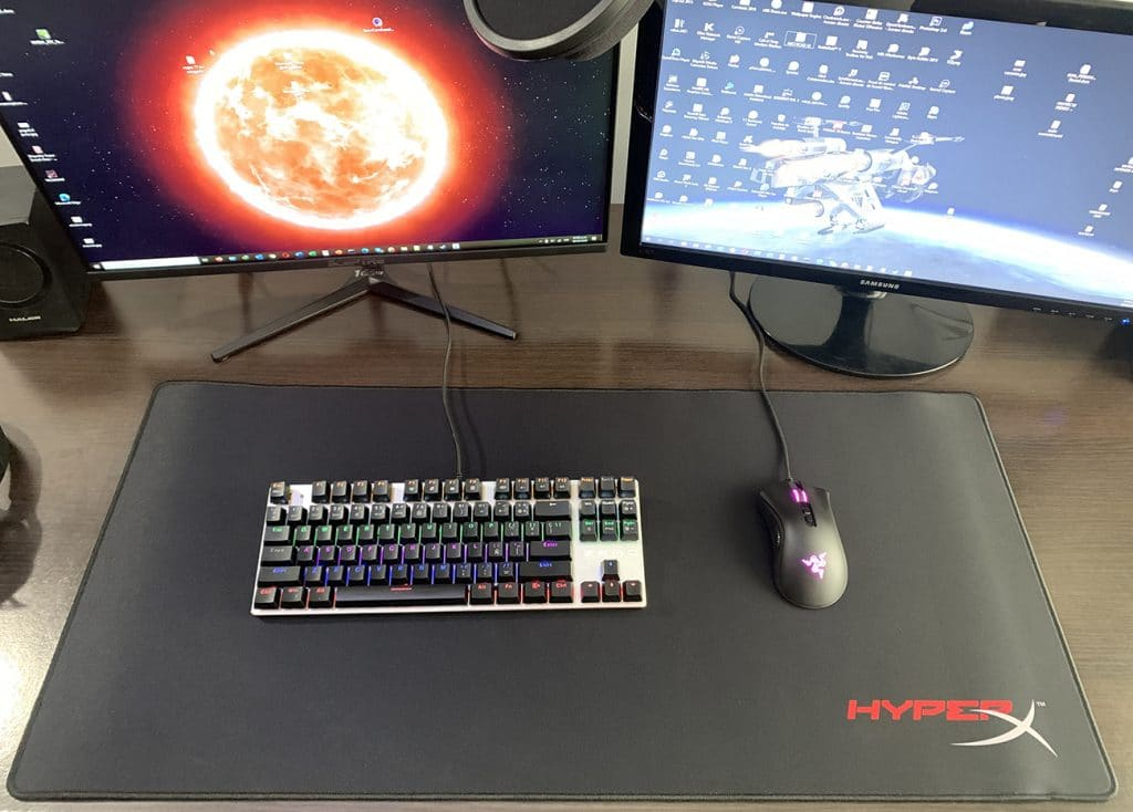 hyperx fury s pro gaming setup
