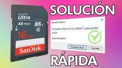 Cómo REPARAR SD o USB dañada (Formatee el disco en la unidad para usarlo)