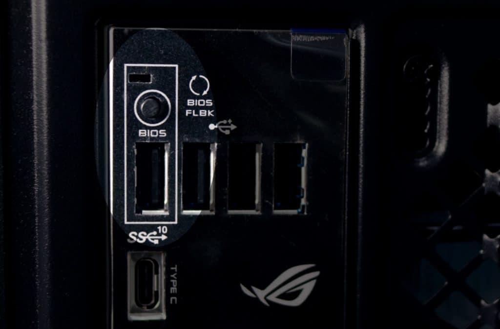 Puerto BIOS Flashback Asus B550