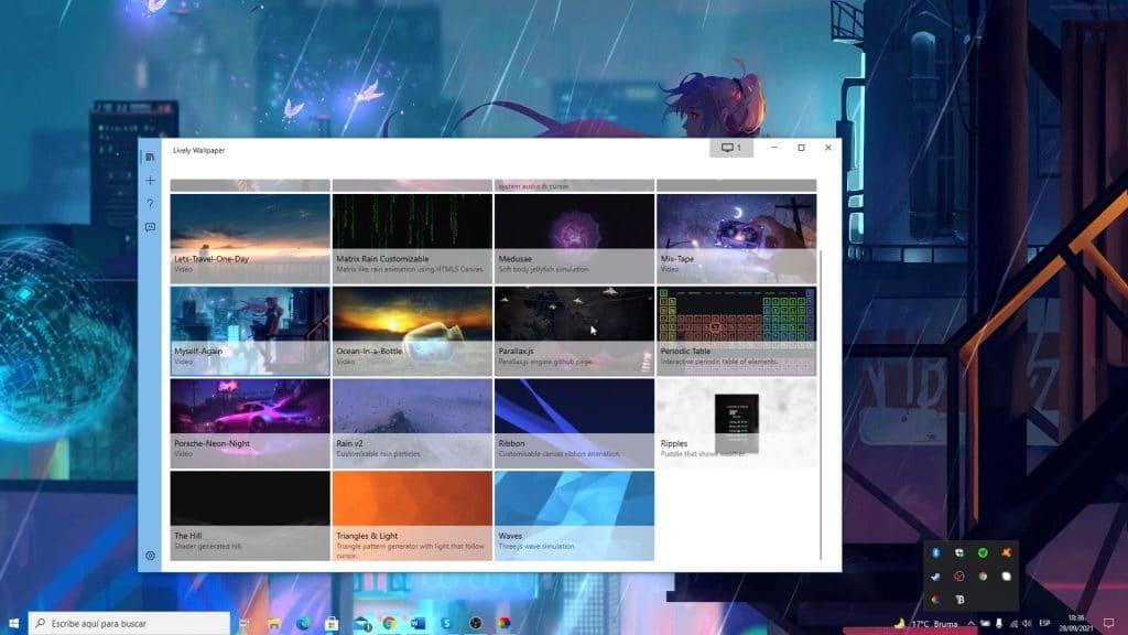 cambiar fondo de pantalla en lively wallpaper